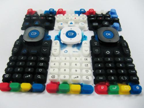 多色遥控器硅胶按键