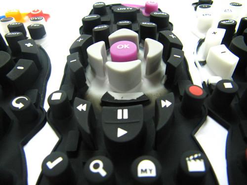 丝印工艺多色硅胶遥控器按键 丝印效果图