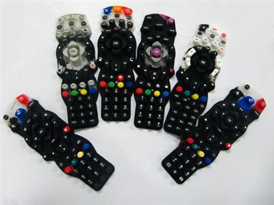 电视机遥控器硅胶按键 多色款式按键 可随意定制色彩